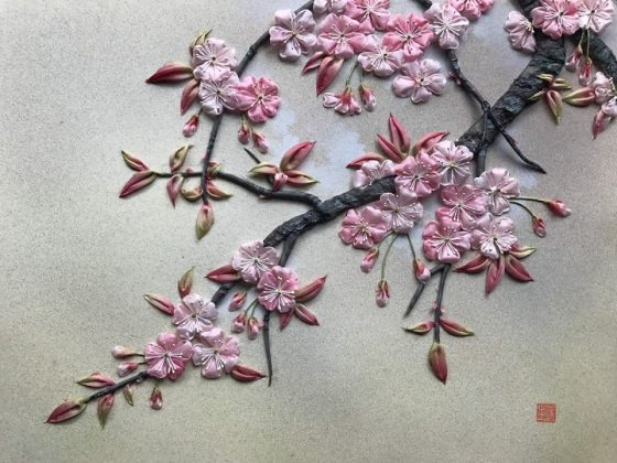 Yayoi Takahashi – Exposition de Tsumami-e